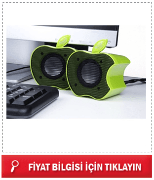 Mini Apple Speaker - Elma Hoparlör