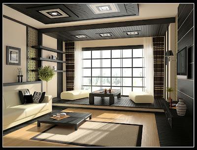 decorar sala en blanco y negro