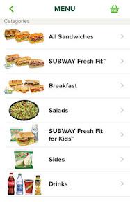 Subway App Screenshot 2