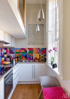 Adesivo colorido cozinha
