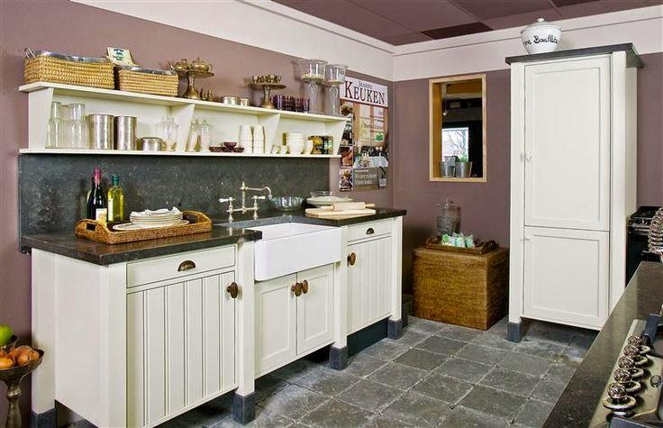Keuken Grijs Groen : Met een roomdivider-kookeiland