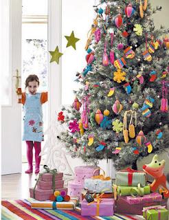 El caj n de sof a ideas para decorar en navidad rboles - Como adornar un arbol de navidad blanco ...