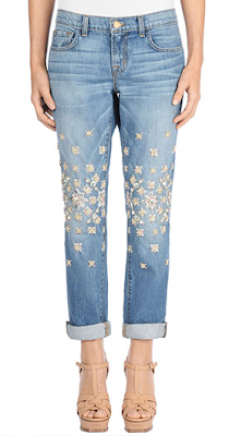 J Brand Christopher Kane Embellished Boyfriend Jeans