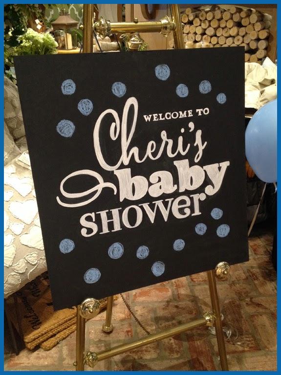 The Pink Chalkboard Cheris Baby Shower Delights