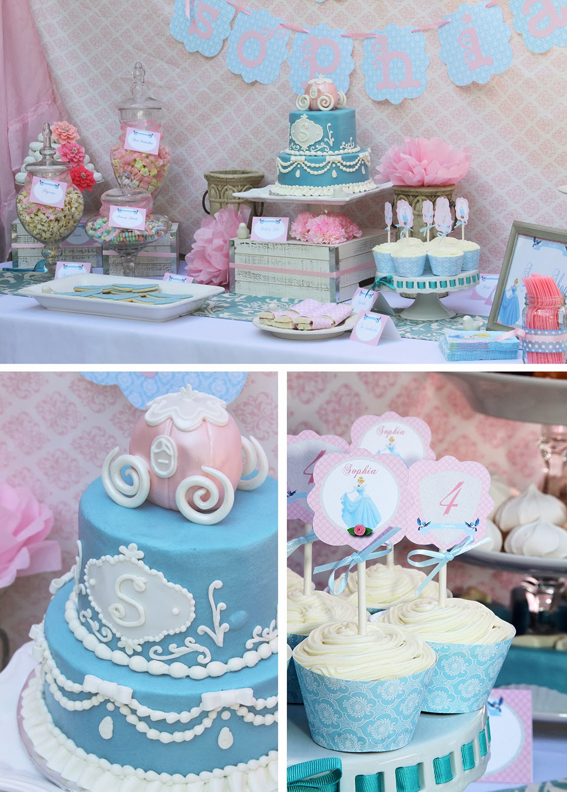 PARTY FEATURE | Pretty Pink and Royal Cinderella Birthday Party