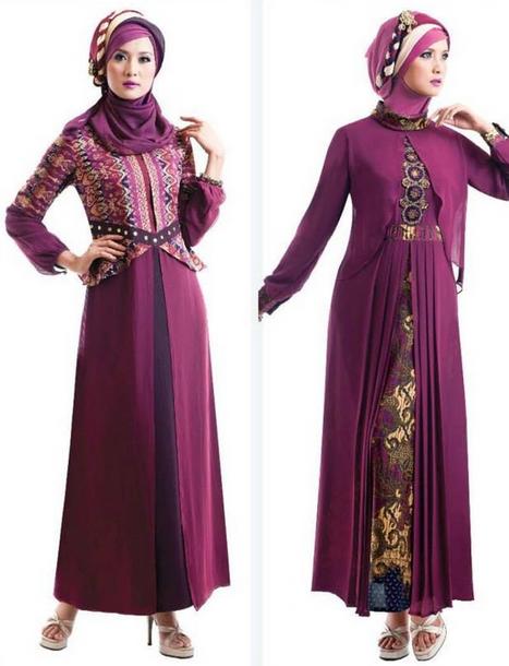 15 Gambar Baju Gamis Muslim Brokat Terbaru 2015