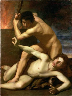 Pictor of the death of Abel murdered by Cain
