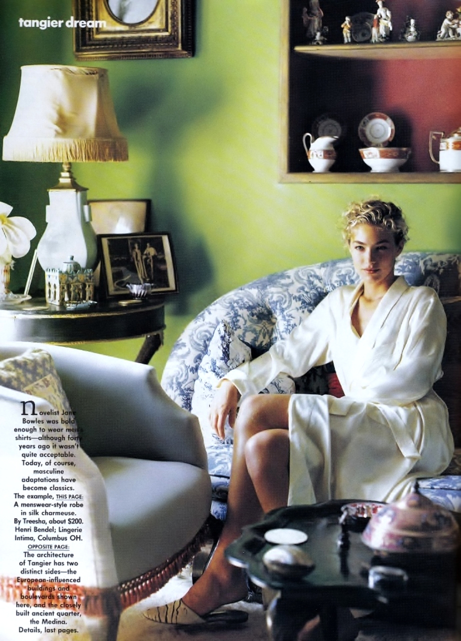Elaine Irwin in Tangier Dreams | Vogue US January 1990 (photography: Bruce Weber, styling: Grace Coddington)