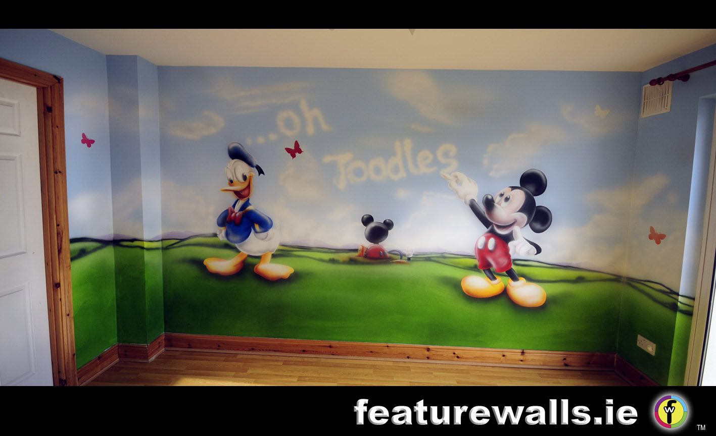 mickey mouse clubhouse wall mural joshua and tammy. Black Bedroom Furniture Sets. Home Design Ideas