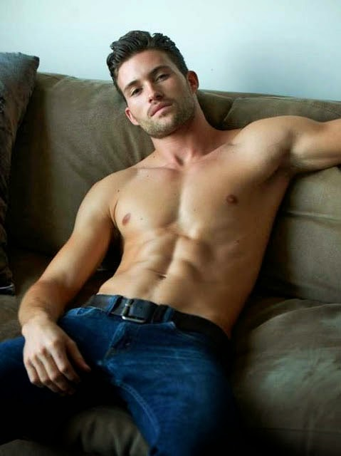 Muscular Athletic Man Lounging