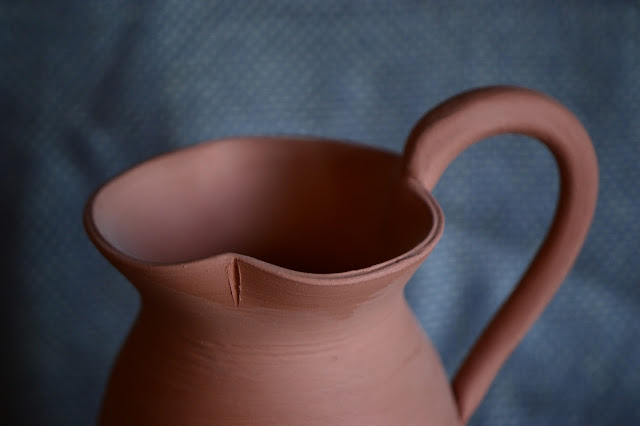 amy myers, handmaker's world, handmakers world, the handmaker, ceramics, pottery, earthenware, classical, pitcher