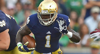 Notre Dame suspends RB Greg Bryant for first four games of 2015 season.