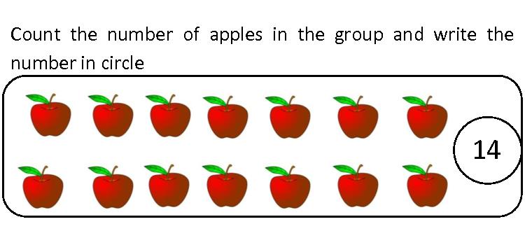 Kidz Worksheets: Kindergarten Counting