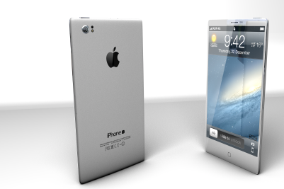 A view to the iPhone 6 which many want to see. iOS 8 and with a touch of HTC One M8