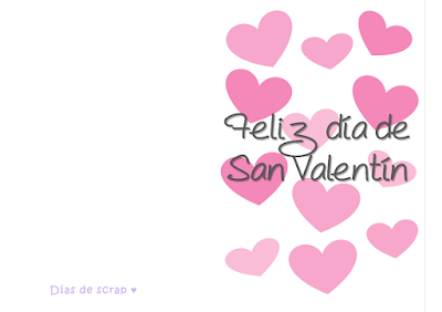 freebies descargables Postal para San Valentín