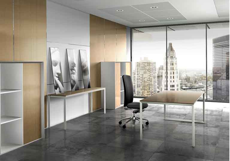 Office interior design dreams house furniture for Simple office design