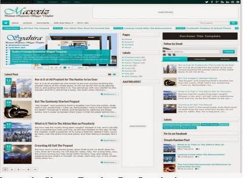Maxxiz responsive Premium blogger template free download ~ Blogger ...