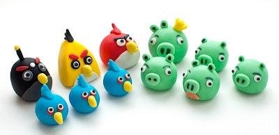 Angry birds iz tičino mase - Angry birds fondant