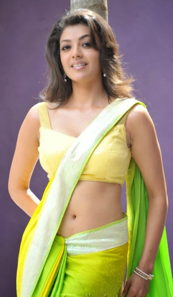 kajal agarwal hot in saree