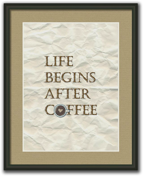 Life Begins After Coffee Framed Print
