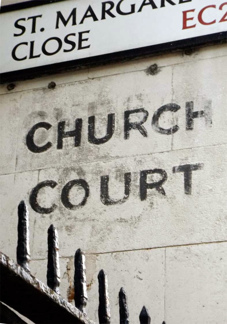 church court st margarets close sign london