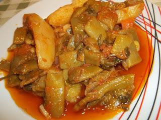 Φασολάκια με πατάτες