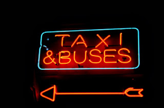 Taxi & Buses Sign