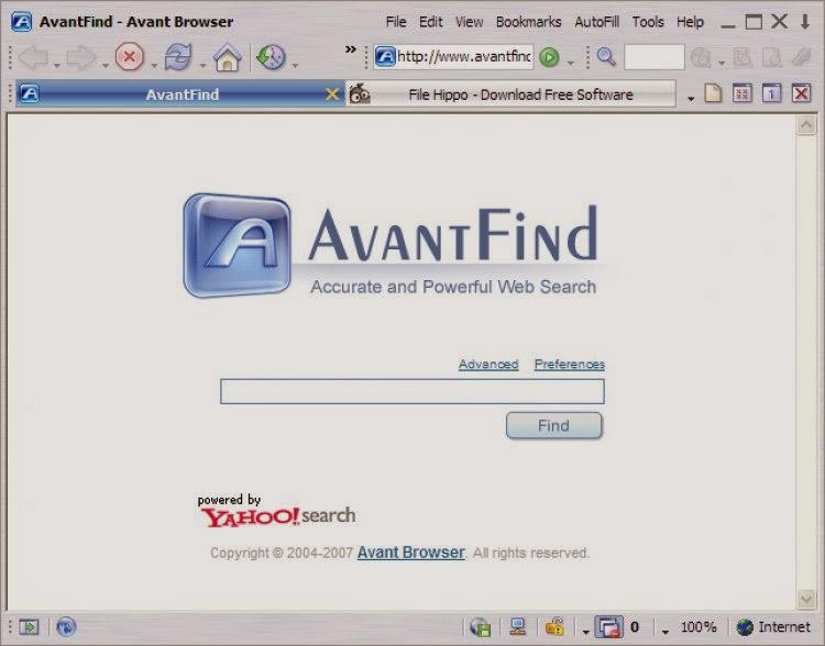 صورة من متصفح Avant Browser