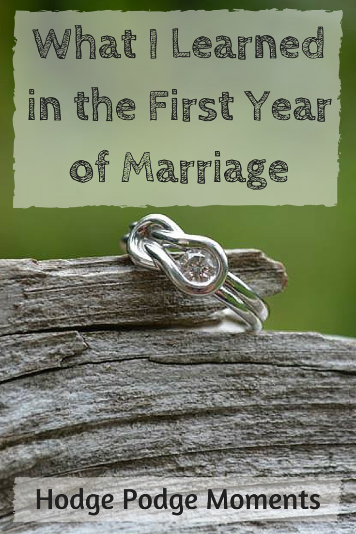 What I Learned in the First Year of Marriage
