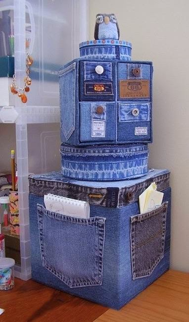 How to recycle recycled crafts from old denims jeans and for Denim craft projects