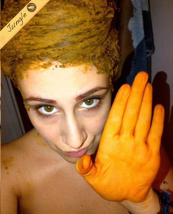 le henn est trs salissant durant lapplication alors prparez vous bien - Coloration Henn Cuivr