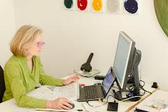 Sabine Kinzel.....bei der Arbeit...