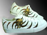 Sepatu Lukis Tengkorak joe 207 Cowok,sepatu lukis,sepatu lukis cowo