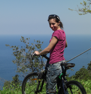 Road trip to Elba - cycling on Elba island - view from Marciana
