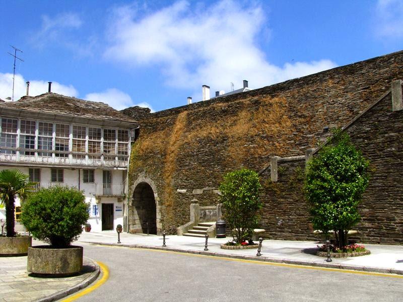 Roman wall, Lugo, Spain.