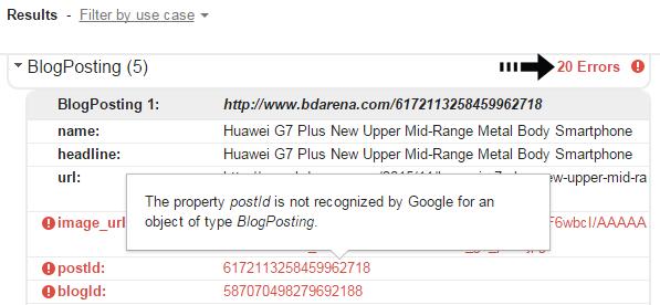 Blog post error found