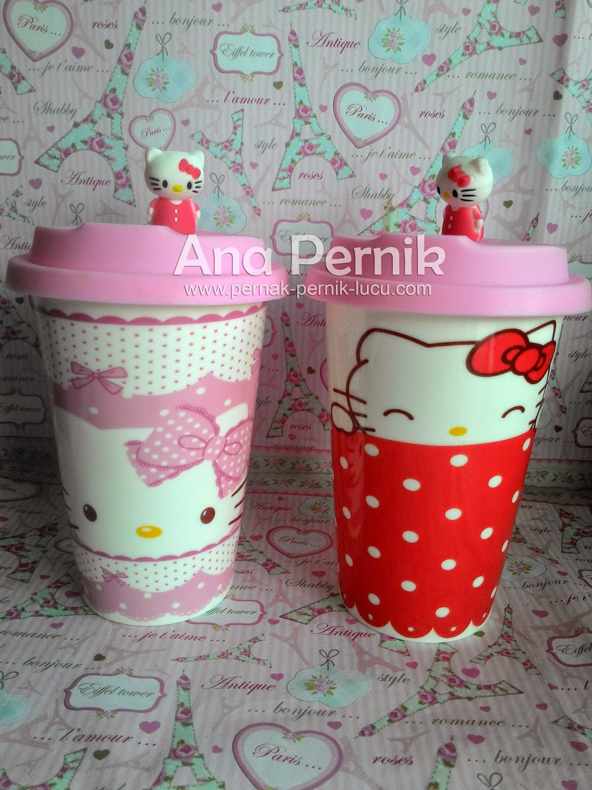 gelas hello kitty; gelas keramik; mug keramik; mug hello kitty; tableware hello kitty; peranotan hello kitty; pernak pernik; pernak pernik hello kitty; perlatan minum hello kitty