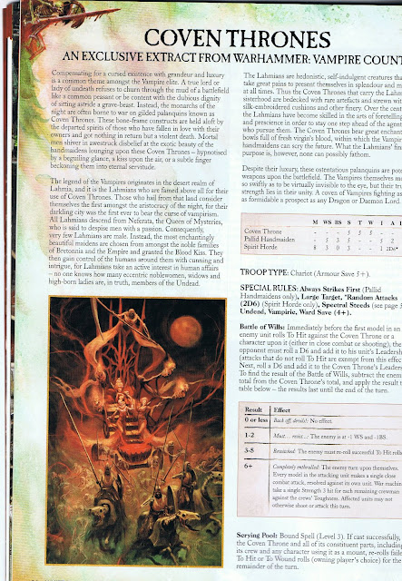 Coven Throne pdf rules for Warhammer Vampire Counts