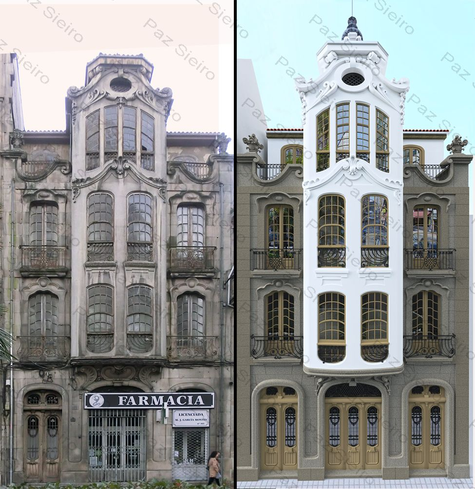 Edificio taboada 1918 r a progreso ourense estilo - Arquitectos ourense ...