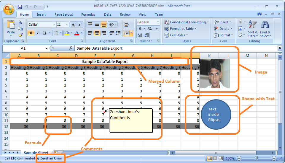 how to add header in excel using java