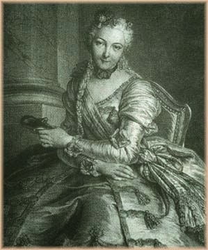 Comeesse de Noailles, The Lady with the Mask by Pierre Louis de Surugue, 1746