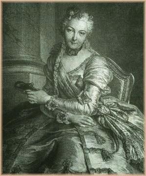 Comeesse de Noailles, The Lady with the Mask by Pierre Louis de Surugue, 1746