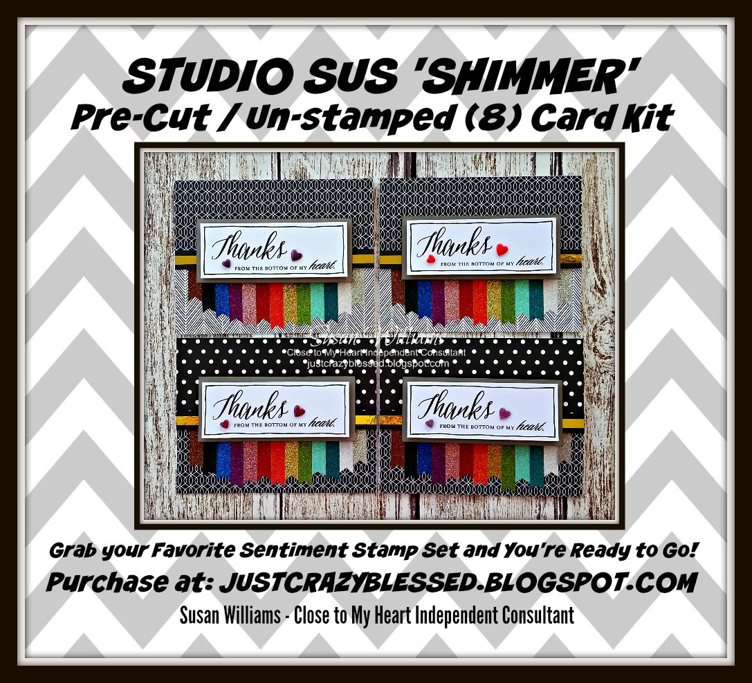 'Shimmer' Pre-Cut (8) Card Kit!