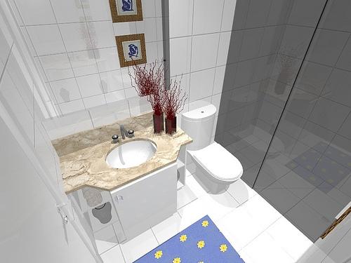Ambientes & Ideias Banheiros -> Banheiro Simples Suite