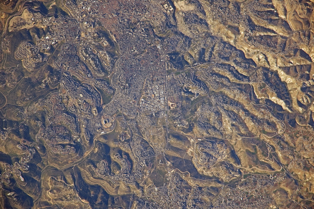 Η Ιερουσαλήμ από τον Διεθνή Διαστημικό Σταθμό