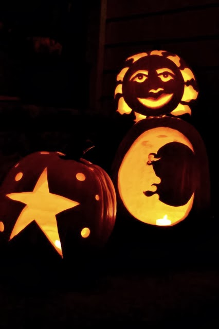 Moon, Stars, and Sun; Jack-o-Lantern Galaxy