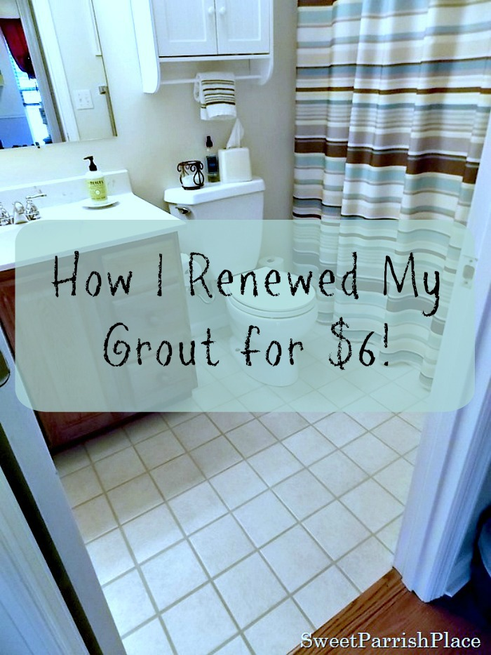 Renew your grout for $6
