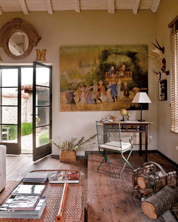 proyecto decoracion rustico vintage-zona de lectura