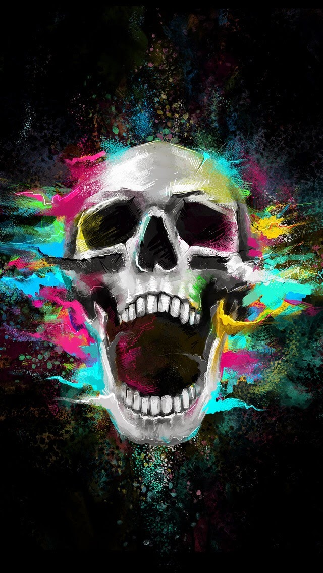 Skull image for Iphone 5, 5S & 5C