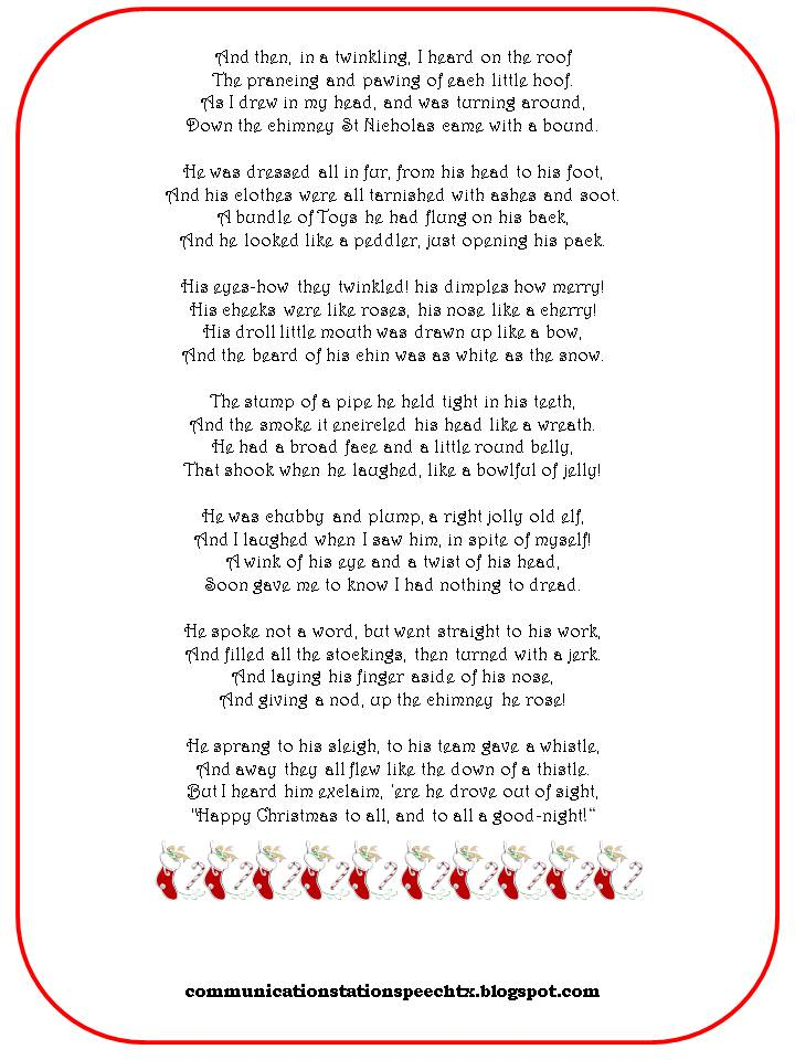 night before christmas funny poem - Twas The Night Before Christmas Decorating Ideas
